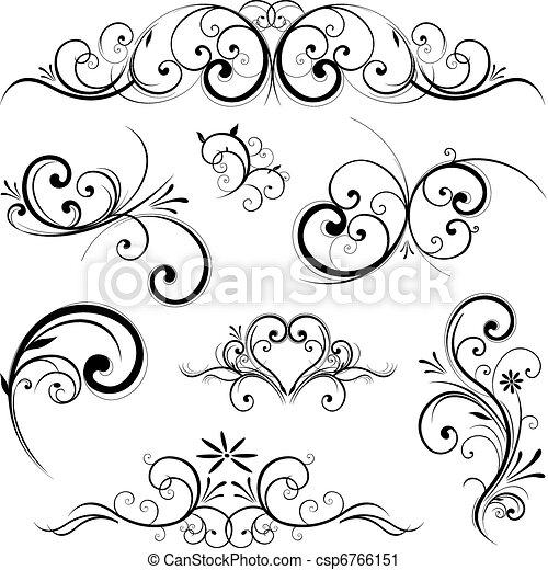 Vector scroll ornament - csp6766151