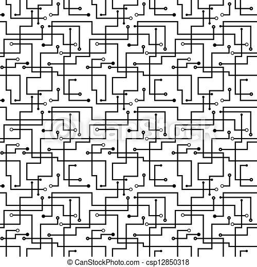 Vector seamless abstract pattern - circuit board scheme.... vector ...