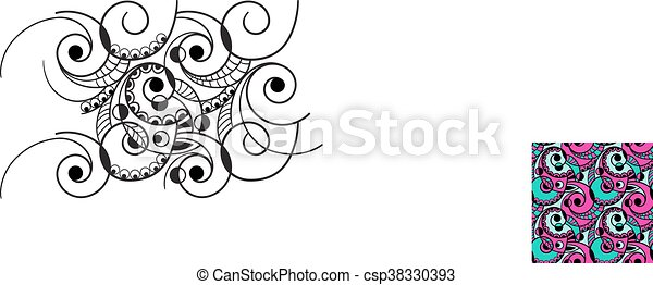 Vector Seamless Abstract  Pattern - csp38330393