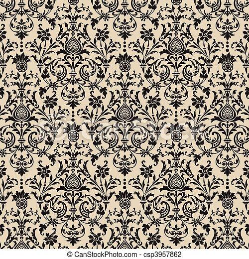 Vector Seamless Background Pattern - csp3957862