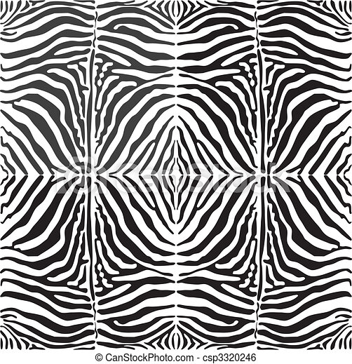 Vector seamless background skin zebra - csp3320246