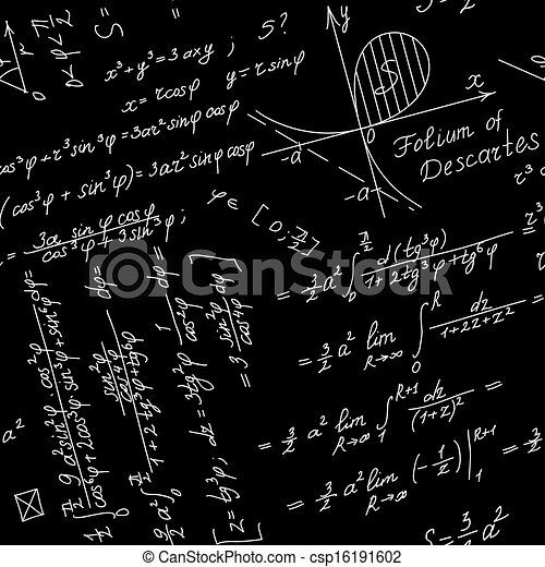 Seamless Math Symbol Background stock vector art 156935338 | iStock
