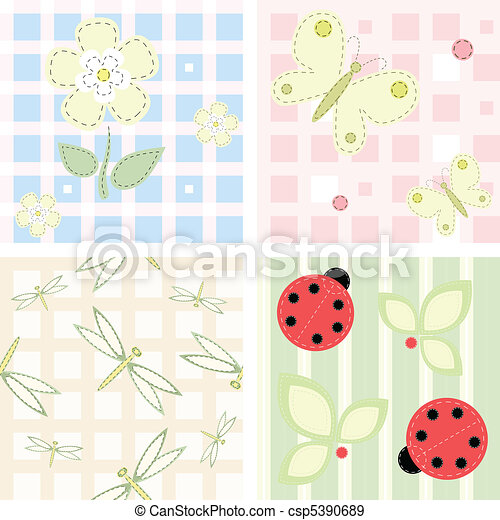 Vector seamless backgrounds - csp5390689