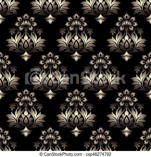 Vector - Seamless baroque background - csp46274792
