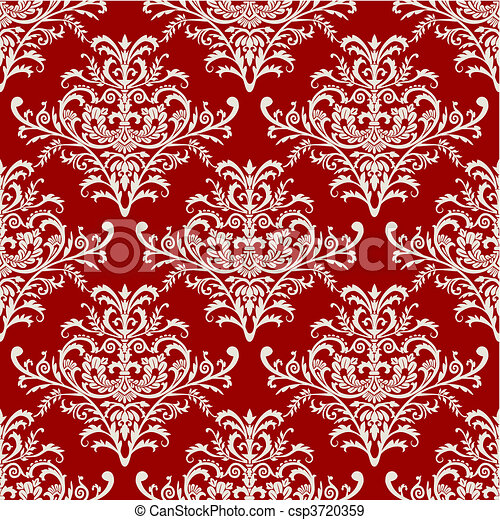 Vector seamless baroque pattern on - csp3720359