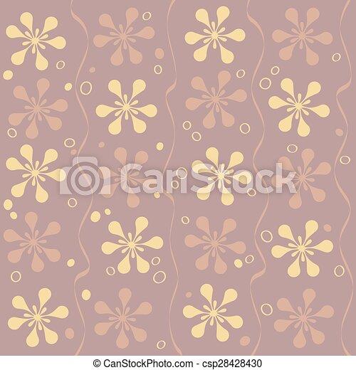 Vector seamless beautiful flower pattern - csp28428430
