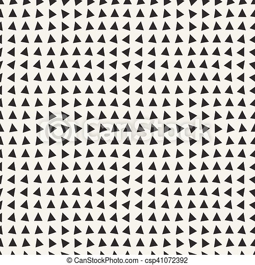 Vector Seamless Black and White Triangle Pattern - csp41072392