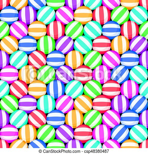 vector seamless candy background pattern - csp48380487