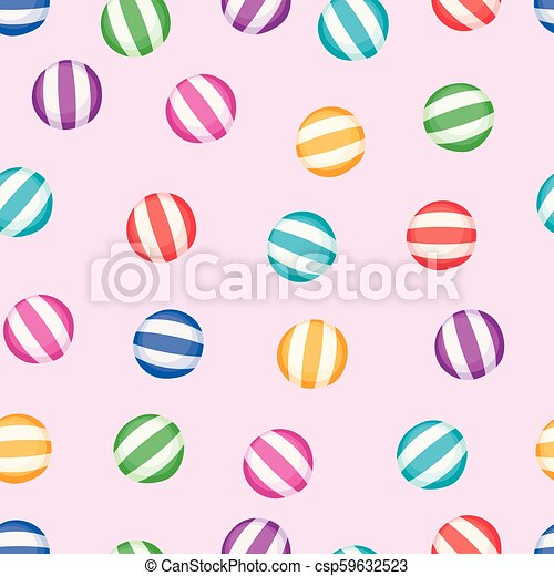 vector seamless candy background pattern - csp59632523