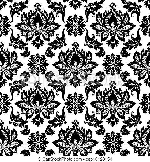 Vector. Seamless damask pattern - csp10128154