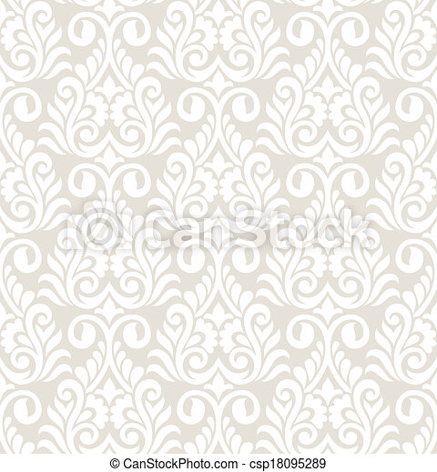 Vector seamless damask pattern - csp18095289