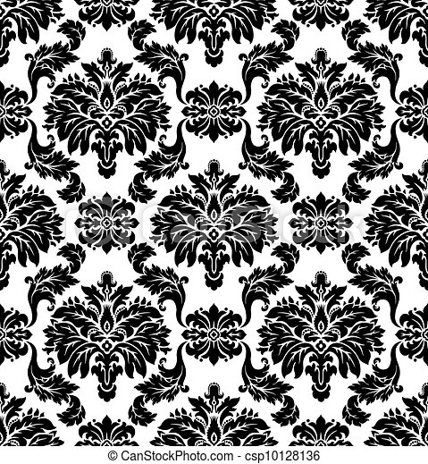 Vector. Seamless damask pattern - csp10128136