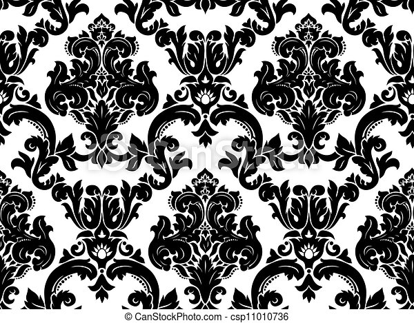 Vector. Seamless damask pattern - csp11010736