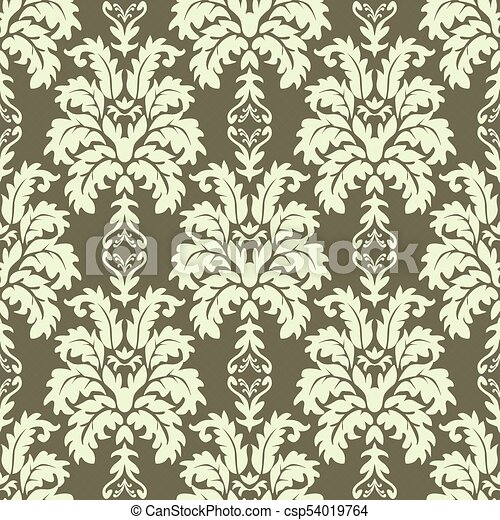 Vector Seamless Damask Pattern Rich Ornament Old Damascus Style Pattern For Wallpapers Textile Scrapbooking Etc