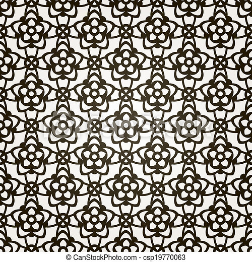 Vector seamless floral background. Lace pattern. - csp19770063