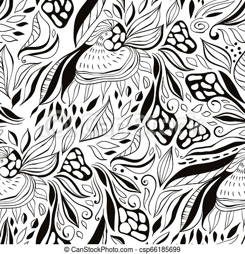 Vector seamless floral pattern - csp66185699