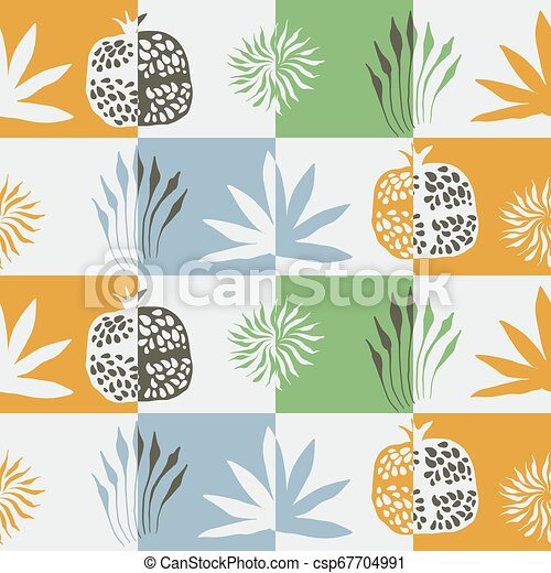 Vector Seamless Floral Pattern - csp67704991