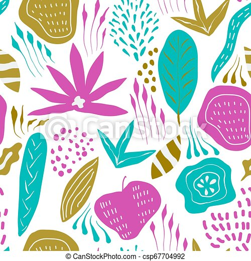 Vector Seamless Floral Pattern - csp67704992