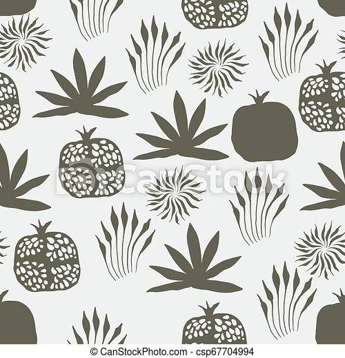Vector Seamless Floral Pattern - csp67704994