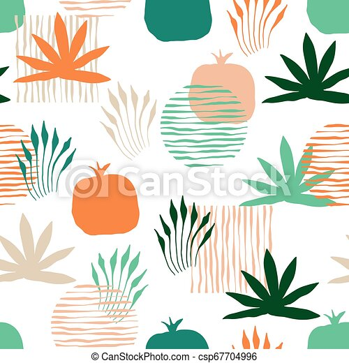 Vector Seamless Floral Pattern - csp67704996