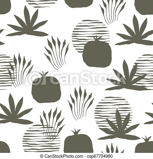 Vector Seamless Floral Pattern - csp67704980