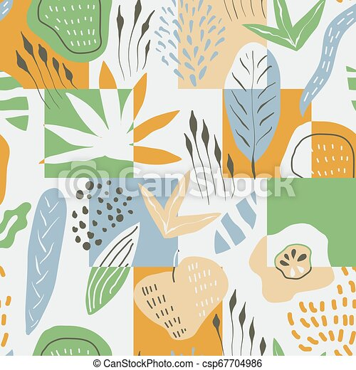Vector Seamless Floral Pattern - csp67704986