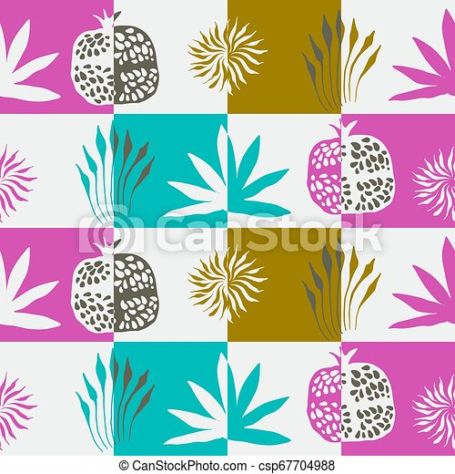 Vector Seamless Floral Pattern - csp67704988