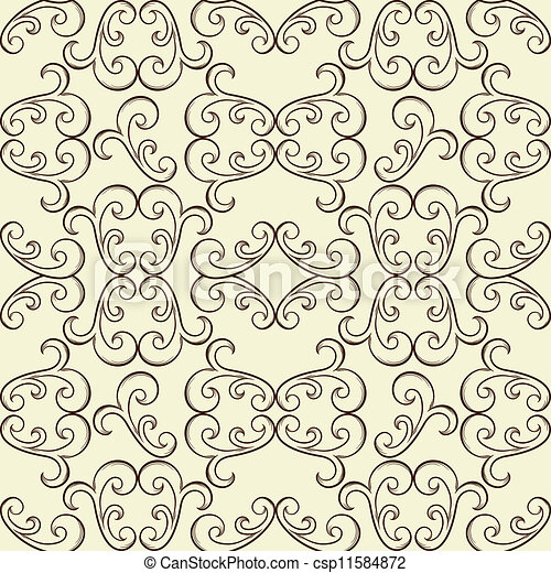 Vector Seamless Floral Pattern - csp11584872