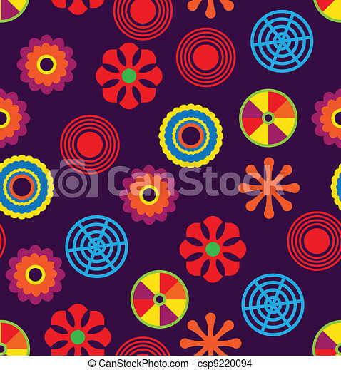 Vector seamless funky pattern - csp9220094