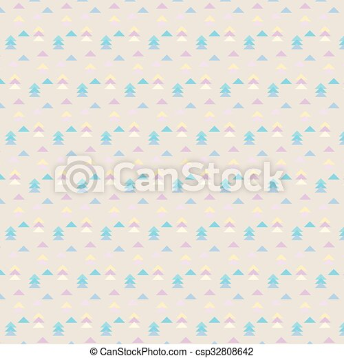 Vector seamless geometric pattern with triangles - csp32808642