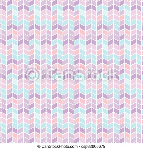 Vector Seamless geometric pattern with zigzags - csp32808679