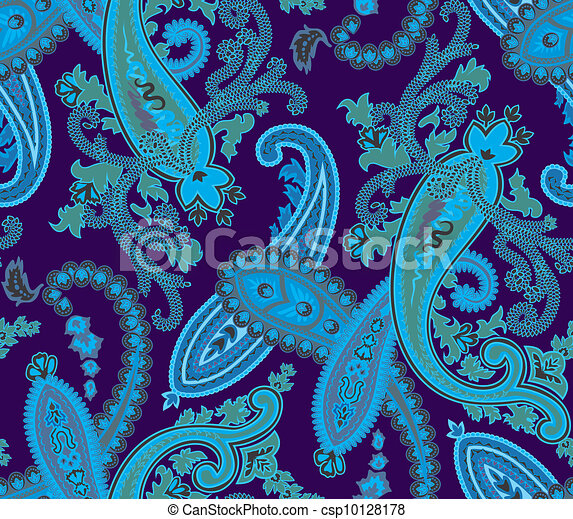 Vector. Seamless paisley background - csp10128178