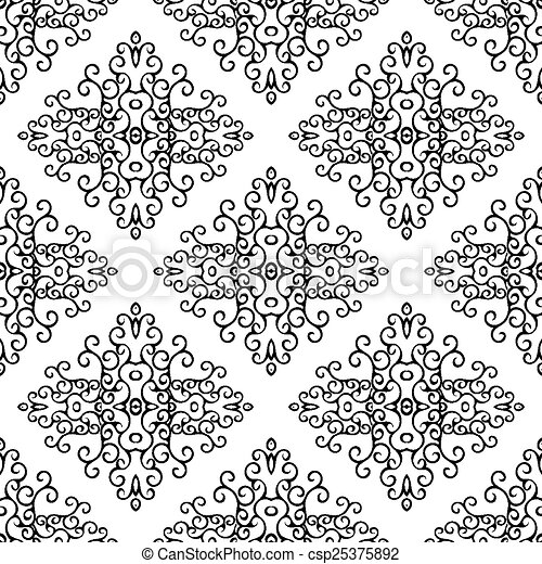 Vector seamless pattern. Abstract - csp25375892