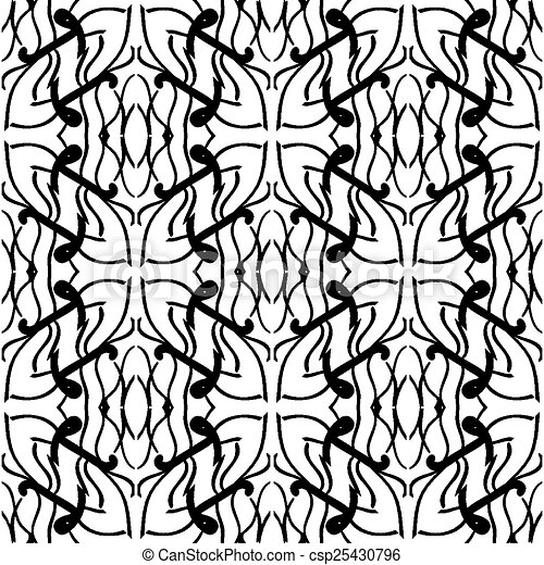 Vector seamless pattern. Abstract - csp25430796