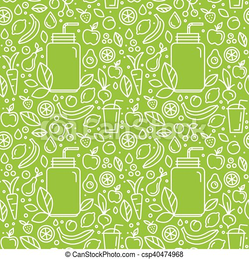 Vector seamless pattern and background for food packaging - csp40474968
