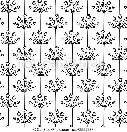 Vector Seamless Pattern Linear Graphic Design Floral Linear Background Minimalist Simple Ornament,Royal Blue Wedding Cupcake Designs