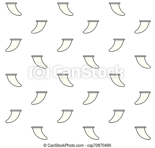 Vector seamless pattern of line surf board fin - csp70870490
