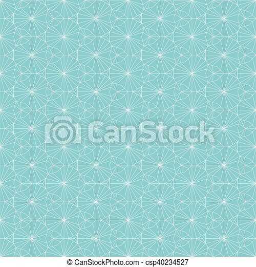 Vector seamless pattern. Repeating geometric background with thin lines pattern - csp40234527