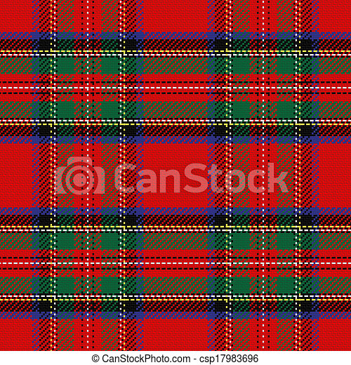 vector seamless pattern Scottish tartan - csp17983696