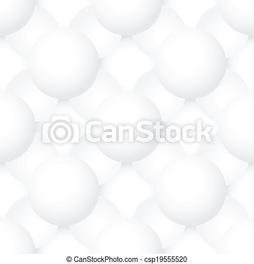 Vector seamless pattern - volume geometric texture with spheres - csp19555520