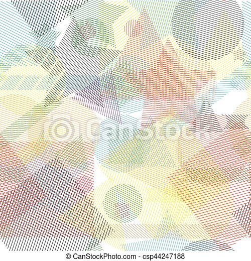 Vector seamless pattern with geometric shapes. - csp44247188