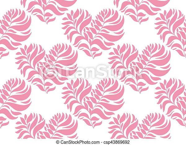 Vector Seamless Pattern with Hearts - csp43869692