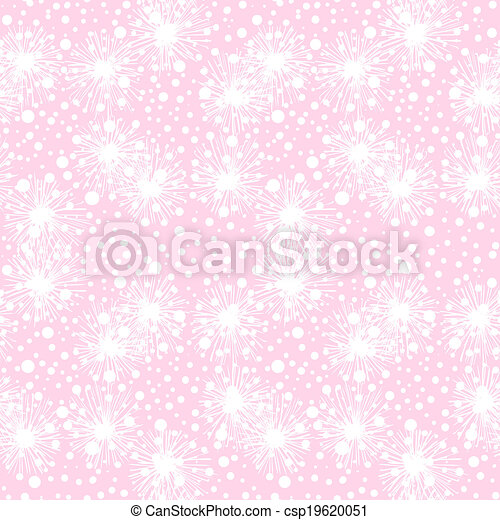 Vector seamless pattern with small furry flowers - csp19620051