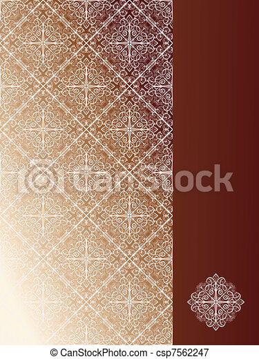 vector seamless pattern with snoflakes on the left and place for your text at the right   - csp7562247