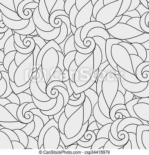 Vector Seamless Pattern with Spirals - csp34418979