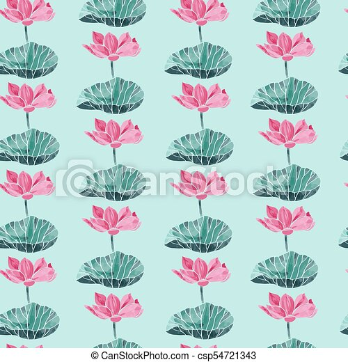 Vector seamless pattern with watercolor lotus flower symbol of vector seamless pattern with watercolor lotus flower symbol of india oriental practices yoga meditation and zen culture mightylinksfo