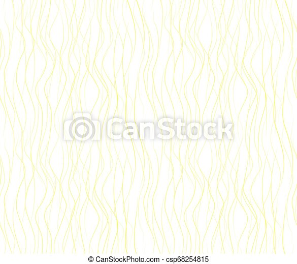 Vector seamless pattern with wavy drawn lines on a white background - csp68254815