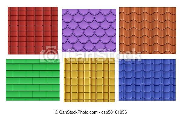 Vector seamless roof tiles - csp58161056