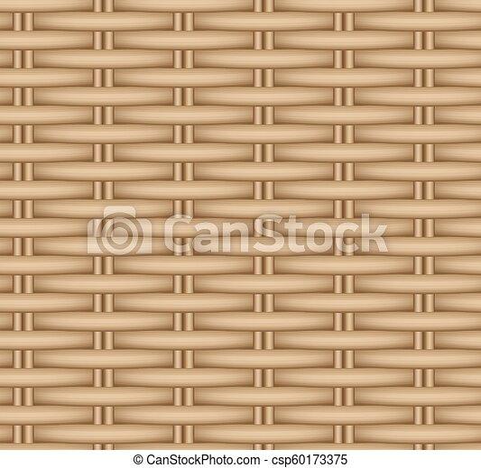 Vector seamless texture of a wicker basket. - csp60173375