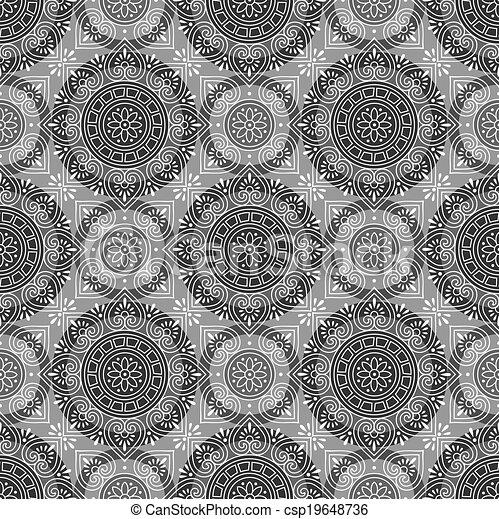 Vector seamless wallpaper - csp19648736